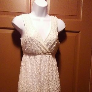 Whit lace summer dress